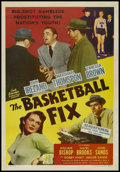 "Movie Posters:Crime, The Basketball Fix (Realart, 1951). One Sheet (27"" X 41""). Crime.Directed by Felix E. Feist. Starring John Ireland, Marshal..."