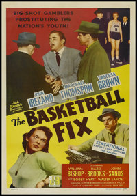 "The Basketball Fix (Realart, 1951). One Sheet (27"" X 41""). Crime. Directed by Felix E. Feist. Starring John Ir..."