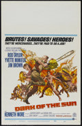 """Movie Posters:War, Dark of the Sun (MGM, 1968). Window Card (14"""" X 22""""). Action.Directed by Jack Cardiff. Starring Rod Taylor, Yvette Mimieux,..."""