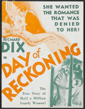 """Movie Posters:Drama, Day of Reckoning (MGM, 1933). Herald (4 1/2"""" X 5 3/4""""). Prison film. Directed by Wilfred Lucas and Charles J. Brabin. Starri..."""