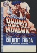 "Movie Posters:Action, Drums Along the Mohawk (20th Century Fox, 1939). Herald (8 1/2"" X 6""). Adventure. Directed by John Ford. Starring Claudette ..."