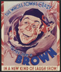 """Movie Posters:Comedy, Elmer, the Great (Warner Brothers, 1933). Herald (5"""" X 6""""). Comedy. Directed by Mervyn LeRoy. Starring Joe E. Brown, Patrici..."""