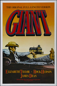 "Giant (Warner Brothers, R-1982). One Sheet (27"" X 41""). Drama. Directed by George Stevens. Starring Elizabeth..."