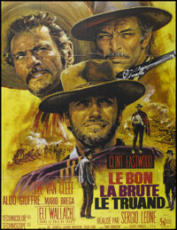 "The Good, The Bad and The Ugly (United Artists, R-1970s). French Grande (47"" X 63""). Western. Directed by Serg..."