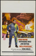 "Movie Posters:Action, Hellfighters (Universal, 1969). Window Card (14"" X 22""). Action.Directed by Andrew V. McLaglen. Starring John Wayne, Kathar..."