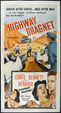 """Movie Posters:Crime, Highway Dragnet (Allied Artists, 1954). Three Sheet (41"""" X 81"""").Crime. Directed by Nathan Juran. Starring Richard Conte, Jo..."""
