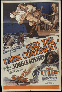 "Jungle Mystery (Universal, 1932). One Sheet (27"" X 41""). Chapter 1 - ""Into the Dark Continent."" Dire..."