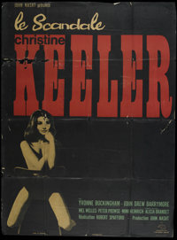 """The Keeler Affair (Jagold, 1963). French Grande (47"""" X 63""""). Biographical Drama. Directed by Robert Spafford..."""