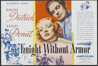 """Knight Without Armor (United Artists, 1937). Herald (4 1/2"""" X 6""""). Drama. Directed by Jacques Feyder. Starring..."""
