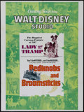 "Movie Posters:Children's, Lady and the Tramp/Bedknobs and Broomsticks Combo (Buena Vista,R-1975). One Sheet (27"" X 41""). Children's. Directed by Clyd..."