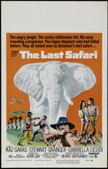 "Movie Posters:Adventure, The Last Safari (Paramount, 1967). Window Card (14"" X 22"").Adventure. Directed by Henry Hathaway. Starring Stewart Granger ..."