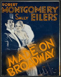 """Movie Posters:Comedy, Made on Broadway (MGM, 1933). Herald (4 1/4"""" X 5 3/4""""). Drama. Directed by Harry Beaumont. Starring Robert Montgomery, Sally..."""