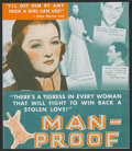 """Movie Posters:Comedy, Man-Proof (MGM, 1938). Herald (6"""" X 6 3/4""""). Romance Comedy.Directed by Richard Thorpe. Starring Myrna Loy, Franchot Tone, ..."""