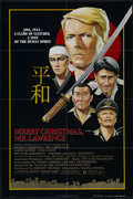 "Movie Posters:War, Merry Christmas, Mr. Lawrence (Universal, 1983). One Sheet (27"" X41""). War. Directed by Nagisa Oshima. Starring David Bowie..."