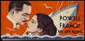 "Movie Posters:Romance, One Way Passage (Warner Brothers, 1932). Herald (3 1/4"" X 7"").Romance. Directed by Tay Garnett. Starring William Powell, Ka..."