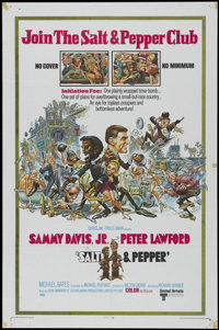"""Salt & Pepper (United Artists, 1968). One Sheet (27"""" X 41""""). Comedy. Directed by Richard Donner. Starr..."""
