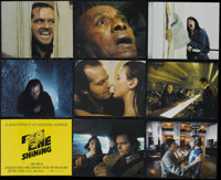 """The Shining (Warner Brothers, 1980). Mini Lobby Card Set of 9 (8"""" X 10""""). Horror. Directed by Stanley Kubrick..."""