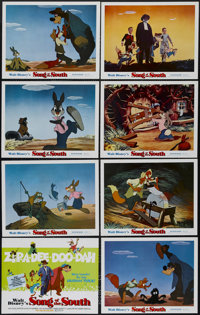 "Song of the South (Buena Vista, R-1972). Lobby Card Set of 8 (11"" X 14""). Animated. Directed by Harve Foster a..."