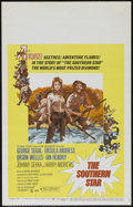 "Movie Posters:Adventure, The Southern Star (Columbia, 1969). Window Card (14"" X 22"").Comedy. Directed by Sidney Hayers. Starring George Segal, Ursul..."