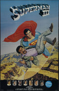 "Movie Posters:Adventure, Superman III (Warner Brothers, 1983). Promotional Poster (25"" X39""). Double Sided. Adventure. Directed by Richard Lester. S..."