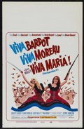 "Movie Posters:Adventure, Viva Maria (United Artists, 1965). Window Card (14"" X 22"").Adventure. Directed by Louis Malle. Starring Brigitte Bardot, Je..."