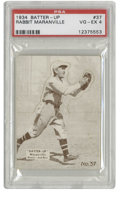 Baseball Cards:Singles (1930-1939), 1934-36 Batter-Up Rabbit Maranville #37 PSA VG-EX 4. NationalChicle released the Batter-Up set between the years of 1934 a...