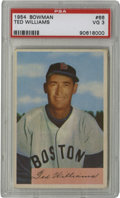 Baseball Cards:Singles (1950-1959), 1954 Bowman Ted Williams #66 PSA VG 3. Terrific color, gloss and registration on this card makes it appear far finer than t...