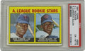 Baseball Cards:Singles (1960-1969), 1967 Topps A.L. Rookies Rod Carew #569 PSA EX-MT 6. A Hall of Fame,3,000 hit career begins as a young Panamanian superstar...
