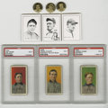 Baseball Cards:Lots, Johnny Evers, Joe Tinker, and Frank Chance, Group Lot of 9. Each ofthe members of the famous Chicago Cubs infield immortal...