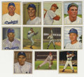 Baseball Cards:Lots, 1950 Bowman Baseball Group Lot of 11. Each of the eleven cardsoffered here provides a example of Bowman's classic 1950 bas...