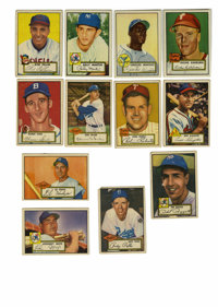 1952 Topps Group Lot of 262. Massive assortment of cards from the impressive 1952 Topps issue are offered here. No high...