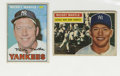 Baseball Cards:Lots, 1956-66 Topps Mickey Mantle Cards Lot of 2. Here we offer two fineMantle cards, one from the 1956 Topps issue #135 and one...