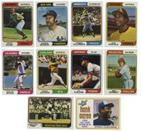 1974 Topps Baseball Complete Set (714). Complete set of 660 cards from the 1974 Topps issue. Highlights include #1 Aaron...