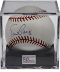 Autographs:Baseballs, Ernie Banks Single Signed Baseball PSA Gem Mint 10. The 500 HomeRun Club Cub has never looked better than he does on this ...