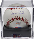 Autographs:Baseballs, Barry Bonds Single Signed Baseball PSA Gem Mint 10. The finestBonds single on the market, joining together a flawless blue...