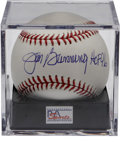 Autographs:Baseballs, Jim Bunning Single Signed Baseball PSA Mint+ 9.5. The RepublicanSenator makes note of his 1996 Hall of Fame induction on t...