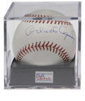 Autographs:Baseballs, Orlando Cepeda Single Signed Baseball PSA Mint+ 9.5. A superb sweetspot signature from the St. Louis Cardinals and San Fra...