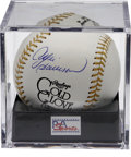 Autographs:Baseballs, Andre Dawson Single Signed Baseball PSA Gem Mint 10. The superstarChicago Cubs outfielder offers a flawless side panel sig...