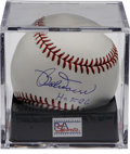 "Autographs:Baseballs, Bobby Doerr Single Signed Baseball PSA Mint+ 9.5. The Hall of FameBoston Red Sox legend adds a ""HOF 86"" notation to his sw..."