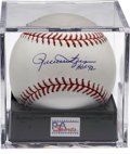 Autographs:Baseballs, Rollie Fingers Single Signed Baseball PSA Mint+ 9.5. The man withthe mustache applies a flawless blue ink signature to thi...
