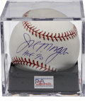 Autographs:Baseballs, Joe Morgan Single Signed Baseball PSA Gem Mint 10. The superstarsecond baseman makes note of his 1990 Hall of Fame inducti...