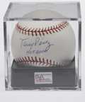 Autographs:Baseballs, Tony Perez Single Signed Baseball PSA Mint+ 9.5. One of the Hall ofFame heroes who brought glory to Cincinnati with the Bi...