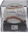 Autographs:Baseballs, Brooks Robinson Single Signed Baseball PSA Mint+ 9.5. The legendarythird baseman of the Baltimore Orioles adds the notatio...