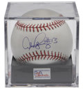 Autographs:Baseballs, Alex Rodriguez Single Signed Baseball PSA Mint+ 9.5. The 2005 ALMVP applies his flawless blue ink signature to the sweet s...
