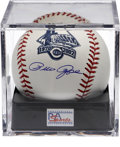 Autographs:Baseballs, Pete Rose Single Signed Baseball PSA Gem Mint 10. An unbeatableside panel signature from Charlie Hustle on a special OML b...