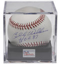 Autographs:Baseballs, Billy Williams Single Signed Baseball PSA Mint+ 9.5. Superb OMLball boasts a sweet spot signature from the Chicago Cubs le...