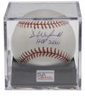 Autographs:Baseballs, Dave Winfield Single Signed Baseball PSA Gem Mint 10. The enormousHall of Fame slugger makes note of the date of his Coope...