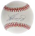 Autographs:Baseballs, Ken Griffey, Jr. Single Signed Baseball. A welcome return to formhas been the fortune of Ken Griffey, Jr., whose Cincinnat...