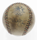 Autographs:Baseballs, 1984 Olympics Mark McGwire Single Signed Baseball. On this heavilysoiled official baseball from the 1984 Olympics resides ...