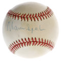 Autographs:Baseballs, Warren Spahn Single Signed Baseball. ONL (White) ball houses asignature from a player who represented durability, Warren S...